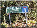 TM2577 : Priory Road sign by Adrian Cable