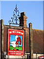 TM2677 : The Fox & Goose Inn sign by Adrian Cable