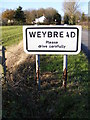 TM2579 : Weybread sign by Adrian Cable