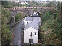 SC4384 : Road Bridge, Laxey by Geoff Pick