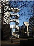 TQ3266 : Fire escape, Lunar House, Croydon by Derek Harper