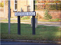 TM2482 : Shotford Road sign by Adrian Cable