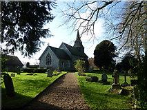 SU5355 : All Saints, Hannington: church path by Basher Eyre