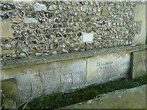 SU5355 : All Saints, Hannington: inscriptions by Basher Eyre