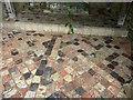 SN7465 : Medieval tiled floors  - Strata Florida abbey church by Phil Champion