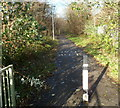 ST1184 : Footpath and cycle route using former railway tracked near Nantgarw by Jaggery