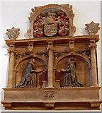 TQ6349 : Monument to Sir John Rivers and wife, Hadlow church by Julian P Guffogg