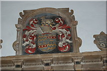 TQ6349 : Crest on Rivers' Memorial, St Mary's church, Hadlow by Julian P Guffogg