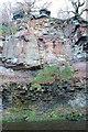 NT2662 : Carboniferous sandstone, North Esk gorge at Roslin Glen by Jim Barton
