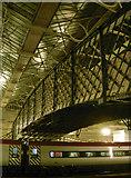 NY4055 : Footbridge over the tracks by Neil Owen