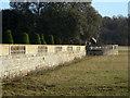 SK5721 : Garden wall and ha-ha by Alan Murray-Rust