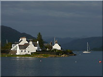 NG8033 : Evening light and high tide, Aird a' Mhorair, Plockton by Colin Park