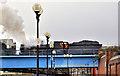 J3474 : Steam train, Belfast by Albert Bridge