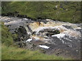 NY7637 : Waterfall, River South Tyne near Tynehead by Les Hull