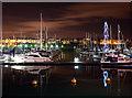 J5082 : Bangor Marina at night by Rossographer
