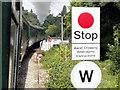 TQ5335 : Spa Valley Railway, Forge Farm Level Crossing by Helmut Zozmann