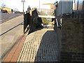 TQ2382 : Paddington Arm bridge 4 - ramp from Ladbroke Grove to towpath by David Hawgood