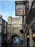 SE6052 : York: Bootham Bar and the Hole in the Wall by Chris Downer