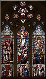 TQ3090 : St Michael, Bounds Green Road, Wood Green, London N22 - Stained glass window by John Salmon