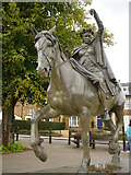 SP4540 : Fine Lady upon a white horse statue, Banbury by Colin Park