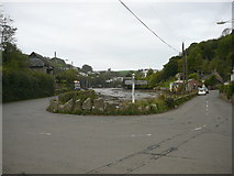 SX5548 : Road junction at Bridgend, Newton Ferrers by Colin Park
