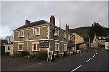 SY2591 : Axmouth : The Ship Inn & Church Street by Lewis Clarke