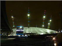 TQ3979 : Greenwich: nighttime view of the O₂ by Chris Downer