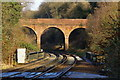 TQ2953 : Road Bridge at Merstham, Surrey by Peter Trimming