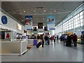 NZ1871 : Arrivals Hall, Newcastle International Airport, Christmas 2011 by Oliver Dixon