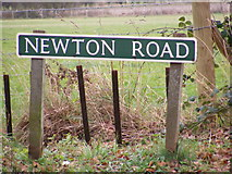 TG2219 : Newton Road sign by Adrian Cable