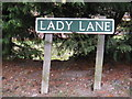 TG2217 : Lady Lane sign by Adrian Cable