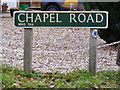 TG2218 : Chapel Road sign by Adrian Cable