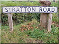 TG2219 : Stratton Road sign by Adrian Cable