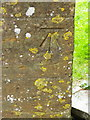 ST5312 : Bench Mark, The Church of St Michael's and All Angels by Maigheach-gheal
