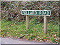 TG2219 : Pollard Road sign by Adrian Cable