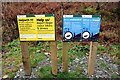 SH5650 : Information signs in Beddgelert Forest by Jeff Buck