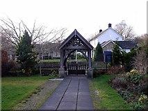 NZ1164 : Lychgate, St Oswin's Parish Church, Wylam by Andrew Curtis