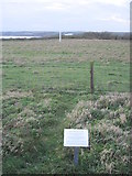 TA1281 : Filey  Rocket  Pole  and  Information  Board by Martin Dawes