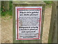 SH3734 : Glanhewch ar ôl eich ci - Clean up after your dog by Alan Fryer