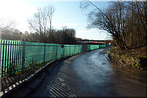 SJ8092 : Rifle Road and Metrolink construction site, Sale by Phil Champion
