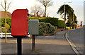 J4880 : Letter box and drop box, Bangor by Albert Bridge