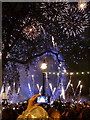 TQ3079 : London: New Year fireworks (6) by Chris Downer