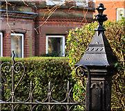 J3773 : Ornamental gatepost, Belfast (1) by Albert Bridge