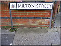 TM1845 : Milton Street sign by Adrian Cable