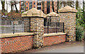 J2867 : Ornamental fence, Derriaghy by Albert Bridge