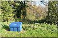 SU5457 : Grit bin at Wolverton Plantation by Graham Horn