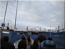 TQ3783 : View of Pudding Mill Lane station from Marshgate Lane by Robert Lamb