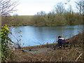 SU0436 : Fishing, Langford Lakes by Maigheach-gheal