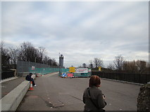 TQ3783 : View of the tower on Stratford High Street from the Greenway by Robert Lamb