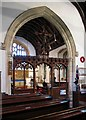 TL7325 : St Mary, Panfield - Screen by John Salmon